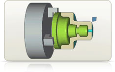 Toolpath Simuation provides a graphical representation of material removal for the verification of machining operations