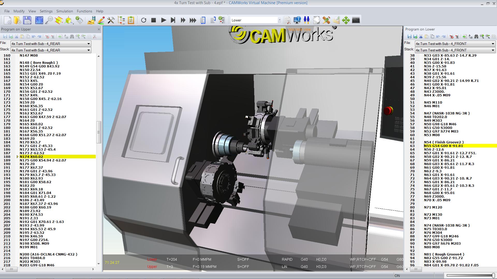 True G-Code Machine Simulation | CAMWorks Virtual Machine