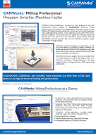 CAMWorks Milling Professional data sheet image