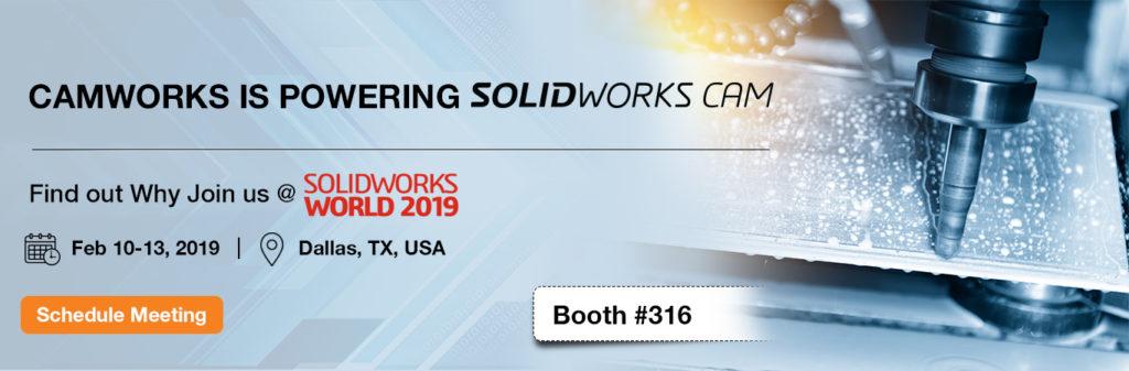 SOLIDWORKS WORLD 2019   CAMWorks   CAD CAM Software   CNC